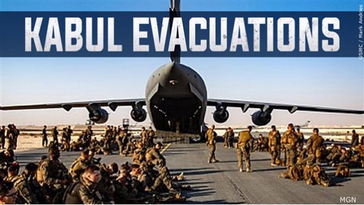 Esfuerzos de evacuación en Kabul, Afganistán.