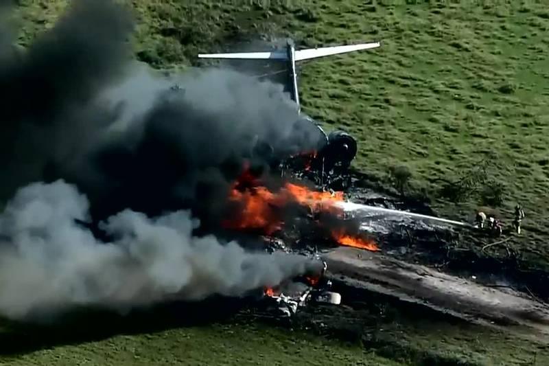 Avion que transportaba a 21 personas se estrella cerca de Houston