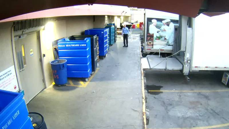 According to the citation, Bartlett was caught on video putting his hands in the trash outside...
